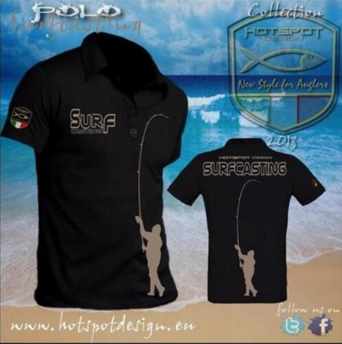 Angler-Shirt Hotspot Design Polo-Shirt Surfcasting