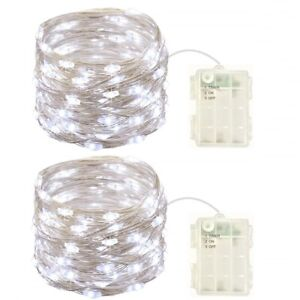 2-Pack-Battery-Operated-Mini-Lights-with-Timer-50-Cold-White-Leds-Fairy-Lights