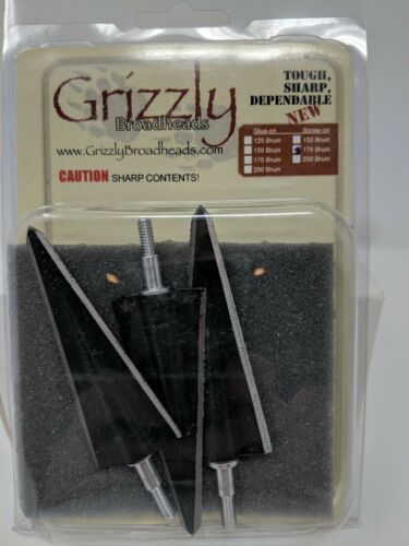 Grizzly Bruin 2 Blade Screw In Broadheads Double Bevel