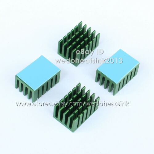 50pcs Aluminum Network Routers Chip 20x14x11mm Heat Sink Green Anodize Radiator
