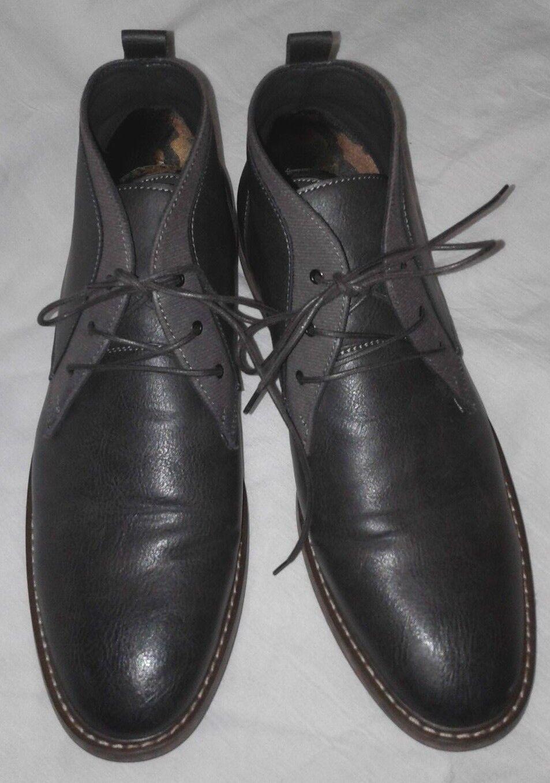 Seven 91 Cuero Marrón Oscuro droalle Chukka Encaje Zapatos botas al Tobillo Hombre