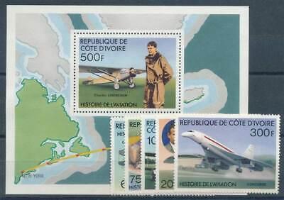 Aufrichtig 618329 Luftfahrt Elfenbeinküste Nr.511-515** Luftfahrt Flugzeuge Concorde Etc...