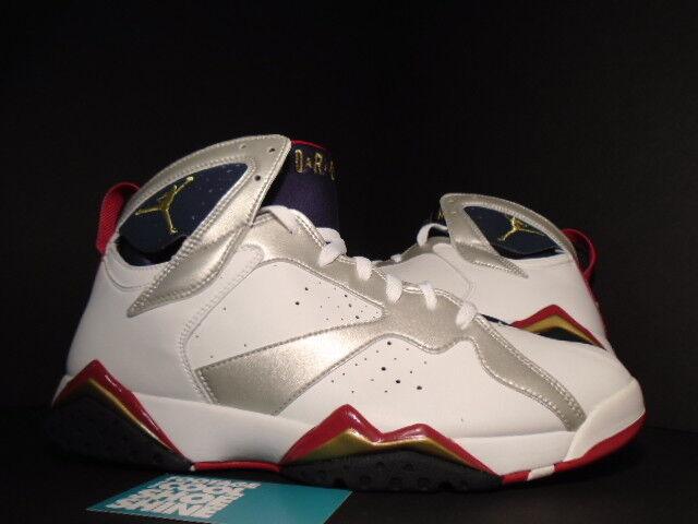 2004 2004 2004 Nike Air Jordan VII 7 Retro OLYMPIC bianca oro NAVY blu rosso 304775-171 9.5 abfb5f