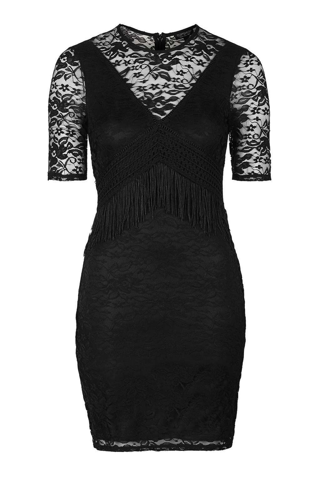 TOPSHOP Lace Fringe Dress Size 12 RRP .00 BRAND NEW