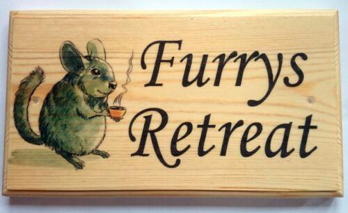Large Furrys Retreat Plaque Sign Mouse Rat Hamster Pets