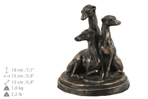 UK dog exclusive urn made of cold cast bronze Art Dog Whippet