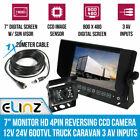 "Elinz GEAR7ERV4PIN80010 7"" HD 4 PIN Truck Reversing Camera"
