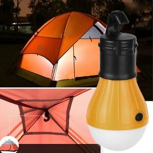 Hot YELLOW Outdoor Hanging 3 LED Camping Tent Light Bulb ...