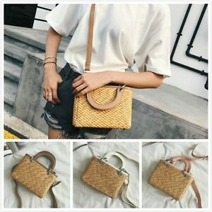 Image Is Loading Womens Doctor Bag Strap Straw Bags Pendant Zipper