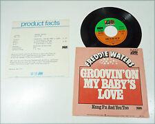 "FREDDIE WATERS - D 70s Modern SOUL 45 + Presse Info ""Groovin' On My Baby's Love"""