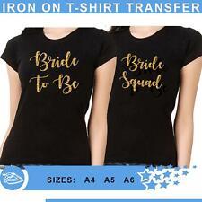 Sparkle Bride Crew Hen Do Party Bride To Be Iron On Heat Transfer T Shirt Vinyl