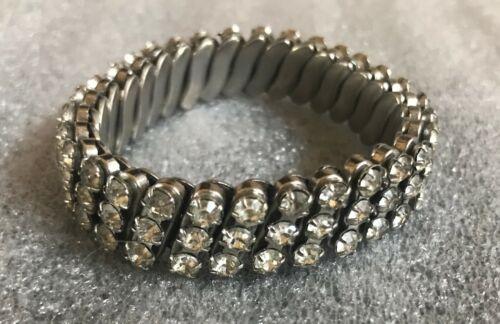 Vintage 1950/'s Rhinestone Stretch Bracelet