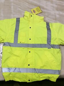 Dickies-workwear-Men-039-s-Hi-Vis-big-men-s-fully-lined-jacket-size-4-XL