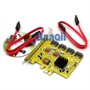 PCI-Express-Card-PCI-E-To-4-SATA-II-HD-software-Raid-Controller-Card-Win7-Mac