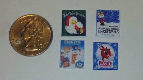Dollhouse Miniature 4 Children's Christmas Books 1:12 scale H17 Dollys Gallery