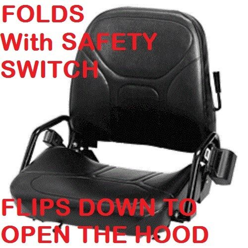 FORKLIFT FLIP DOWN SEAT for hood with SWITCH SEATBELT FOLD CAT CLARK CATERPILLAR