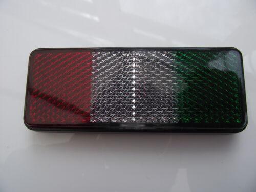 Flag Reflector Badge Italy Italian self adhesive universal car//bike