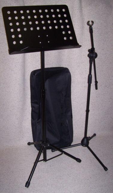 SKORPION coppia 1 LEGGIO Tavola Forata con Borsa Custodia + 1 Asta Microfono