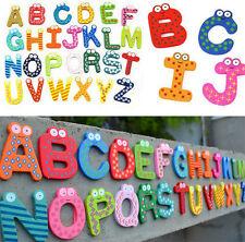 26 Buchstaben A-Z Kühlschrank aus Holz Magnet Baby Kind pädagogisches Spielzeug