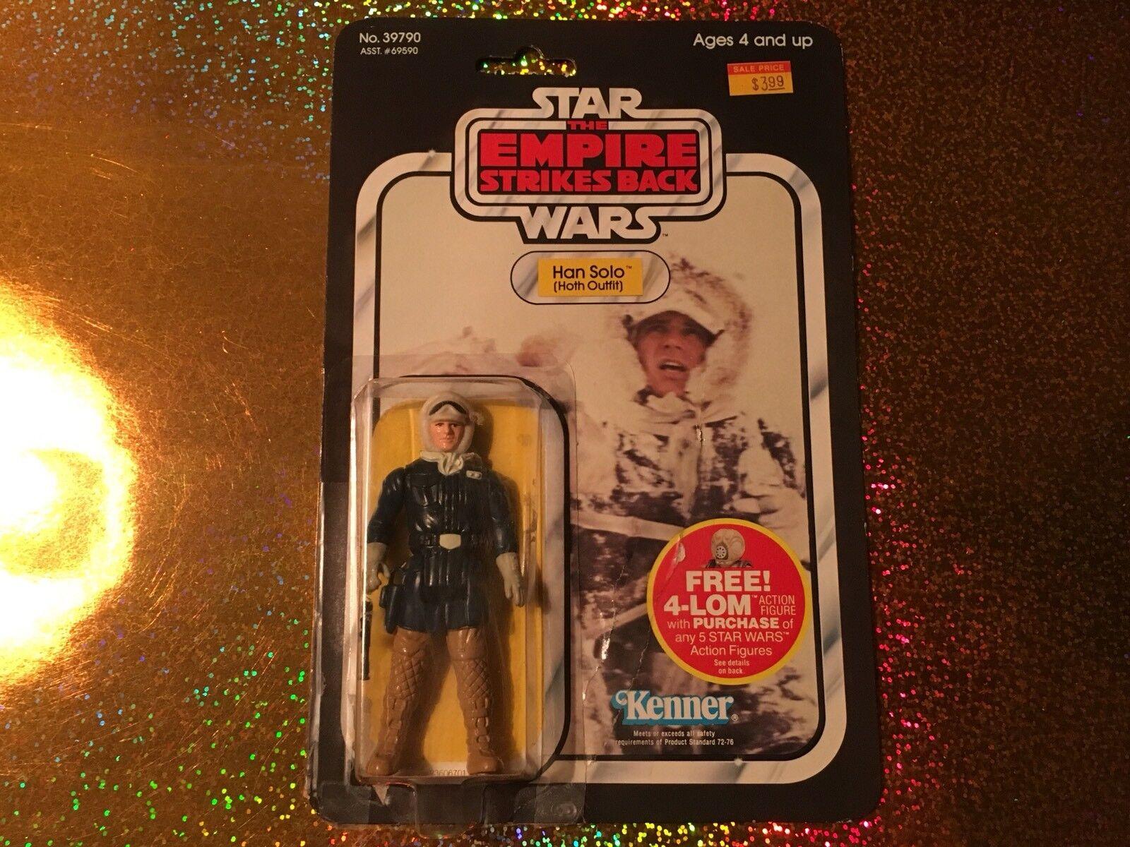 RARA DE Estrella WARS-IMPERIO CONTRAATACA-Imperio Contraataca, Hon Solo Hoth, Jedi, 1982,MOC