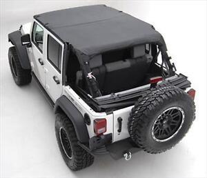 Smittybilt Black Diamond Extended Soft Top For 10-16 Jeep Wrangler JK 4 Door