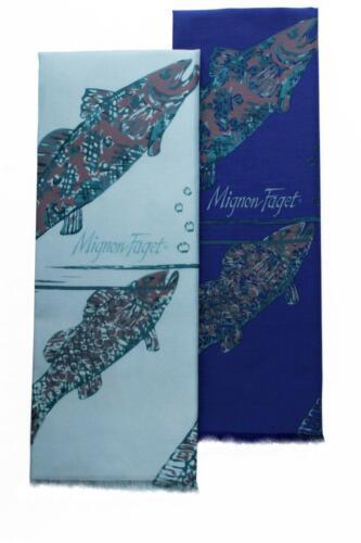 MIGNON FAGET Tie Dye GRAY $39 ~ Gulf Stream BLUE $160 Scarfs NEW ORLEANS