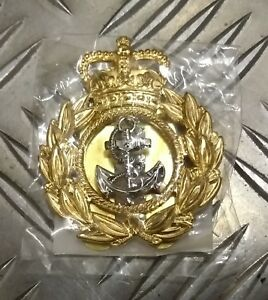 Genuine-British-Royal-Navy-CPO-Chief-Petty-Officer-Cap-Beret-Badge-NEW