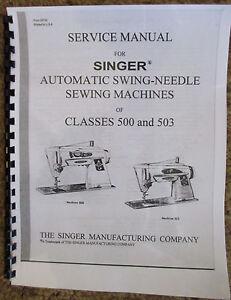 s l300 singer sewing machine class 500 503 service repair manual book