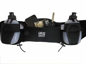 iACTIVEGO-Running-Belt-2-Leak-Free-Hydration-Bottles-amp-Adjustable-Waist-Belt