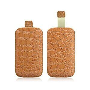 Détails sur Housse Coque Etui Pochette Style Croco Couleur Ocre pour Wiko Lubi 2 / Lubi 3