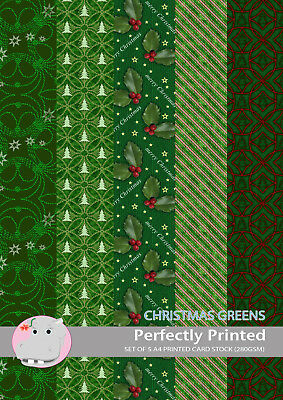 Its Christmas 280gsm 5 Patterned Printed Decorative A4 Craft Card Stock