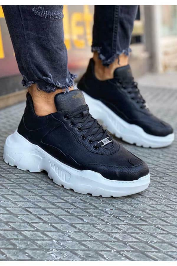 Knack N-75 Sneakers Trainers Black White Sole