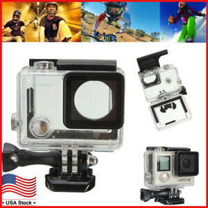 Waterproof Diving Surfing Protective Housing Case for GoPro Hero 4 Silver/Black 617037575540