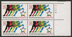 #2748 29c Mundo University Juegos, Placa Bloque [11111 Ur ] Cualquier 4=