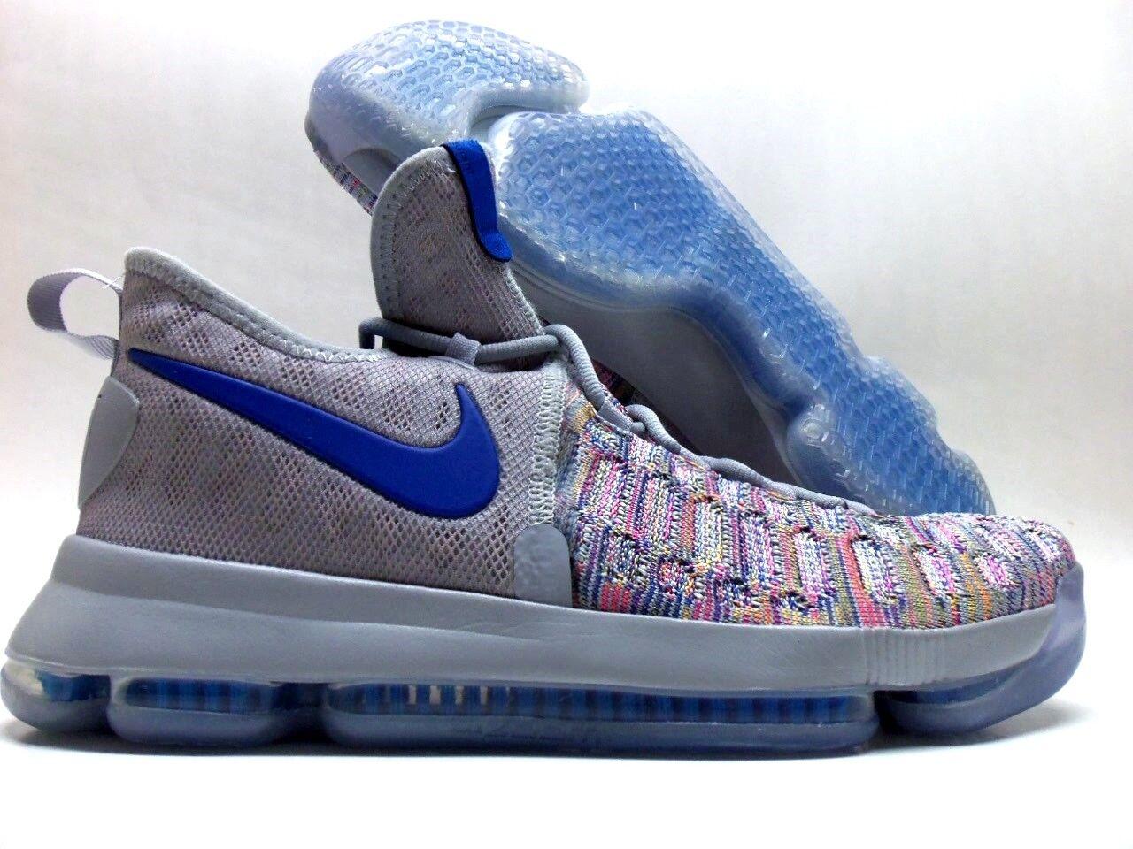 Nike kd 9 ix id kevin durant multi-color / cool grey-royal sz uomini [863695-984]