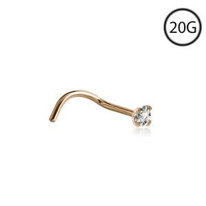 Piercingschmuck Sanft 18kt Gold Nase Schraube Schmuck Ring 1.3mm Echter Original Diamant Winzig Klein Vertrieb Von QualitäTssicherung