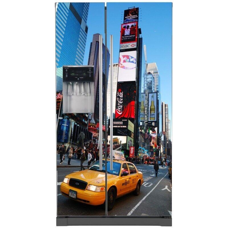 Aufkleber Kühlschrank Amerikanischer Dekor Küche New York Taxi 744