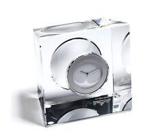 Rosenthal bloque bloque de vidrio-vidrio Contemporáneo Hecho a Mano Único Reloj De Mesa £ 160