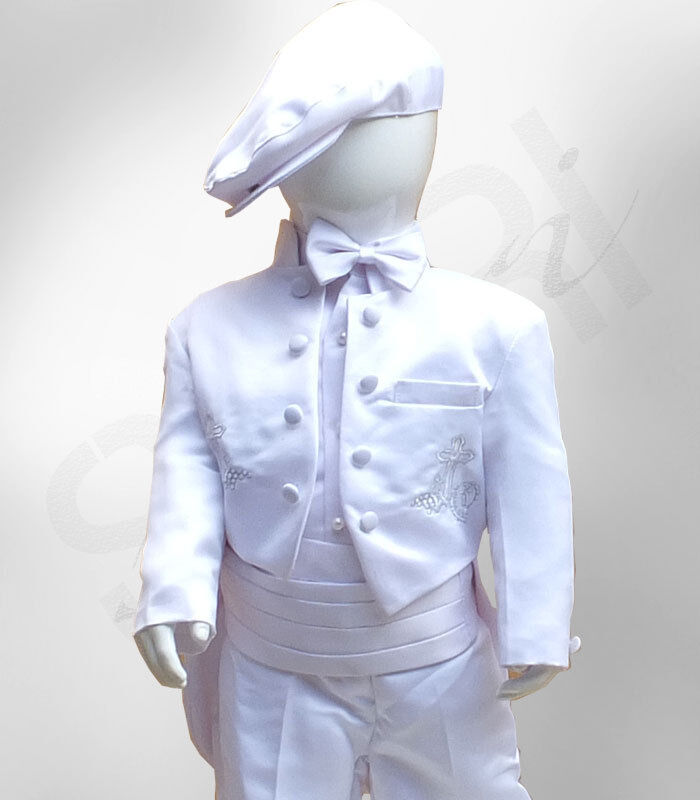 Baby Boys 6pc White Christening Baptism Outfit Boy