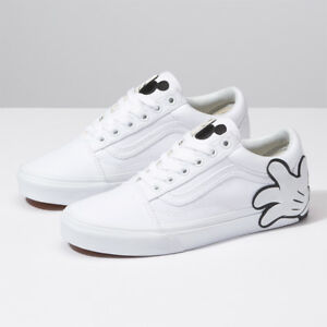 89605a7982 VANS x Disney Mickey Mouse Old Skool Skate Sneakers Shoes - White ...