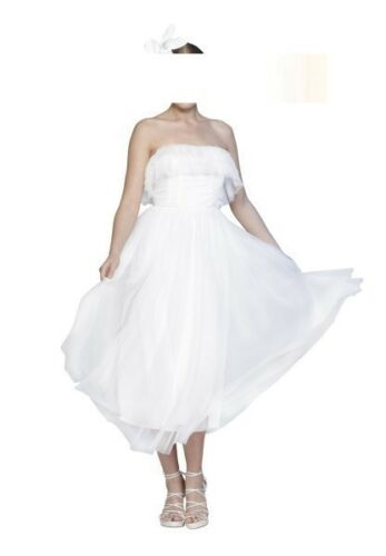 Apart by Sibilla pavenstedt Tulle vestito da sposa abito da sposa abito da Sera crema Nuovo