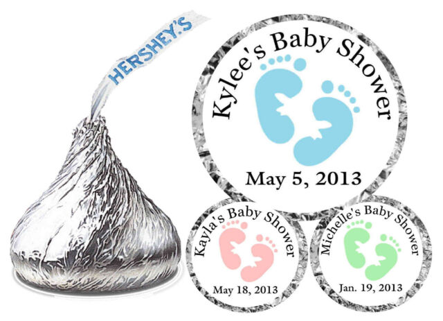 216 BABY SHOWER FAVORS HERSHEY KISS LABELS