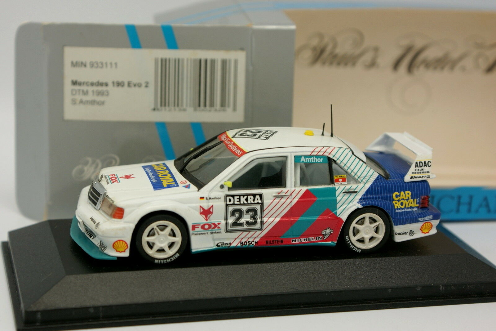 Minichamps 1 43 - Mercedes 190 Evo 2 DTM 1993 Amthor