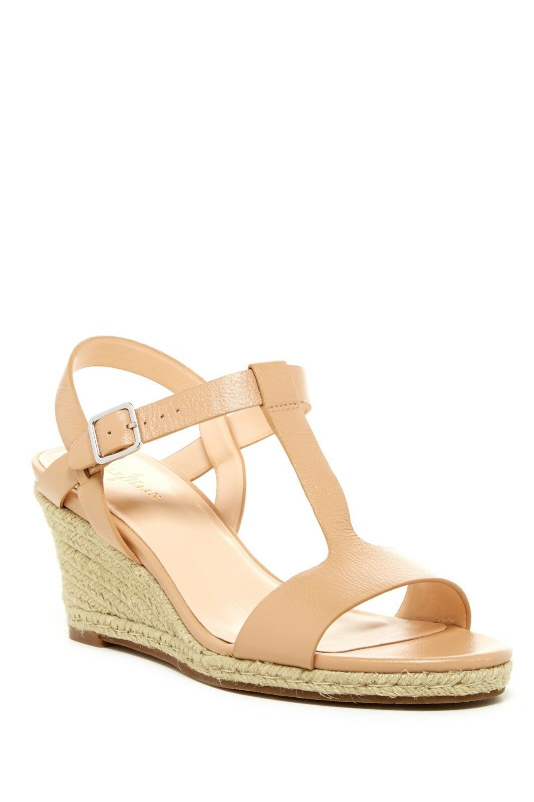 180 Cole Haan Elizabeth Wedge Sandal shoes Womens Sandstone 10 NEW IN BOX