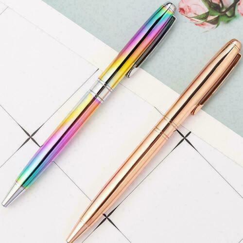 Kreatives Regenbogen-Steigungs-Griffel-Metallkugelschreiber-Kinderbriefpapi Z5X4