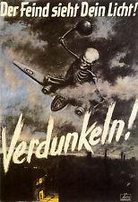 WWII Poster Print Verdunkeln wehrmacht