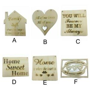 4 x Wooden MDF House Plaques  15cm high x 12cm face 4mm thick 5mm holes