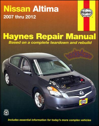 ALTIMA NISSAN SHOP MANUAL SERVICE REPAIR BOOK HAYNES WORKSHOP ...