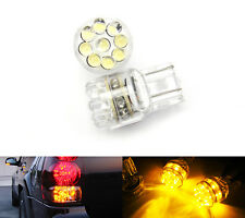 2x Amber 15 LED 7443 7440 Rear Turn Signal Light For Honda Accord Civic Fit CR-V
