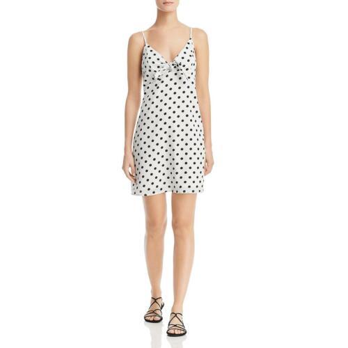 Re:named Womens Polka Dot Tie Front Mini Slip Dress BHFO 6507